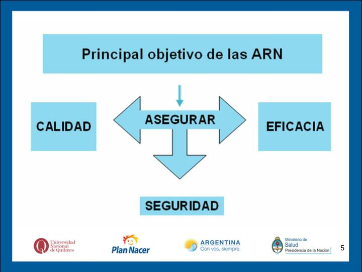 Principal objetivo de las ARN