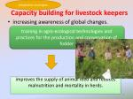 capacity building for livestock keepers