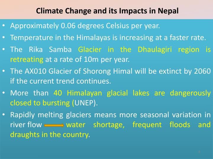 Climate Change and its Impacts in Nepal