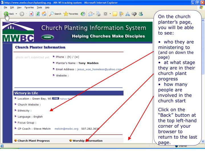 Church Planter's Page