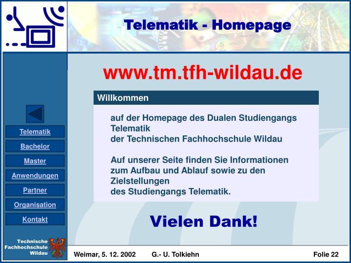 Telematik - Homepage