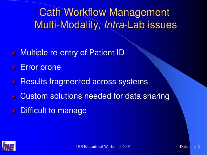 Cath Workflow Management