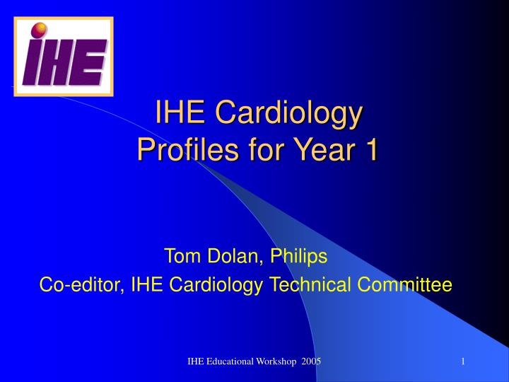 Ihe cardiology profiles for year 1