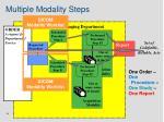 multiple modality steps