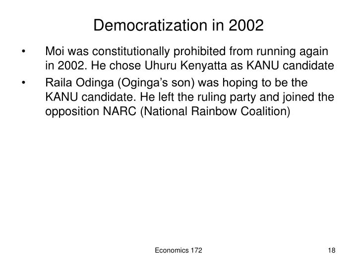 Democratization in 2002