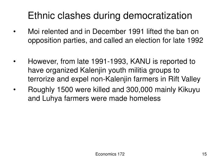 Ethnic clashes during democratization