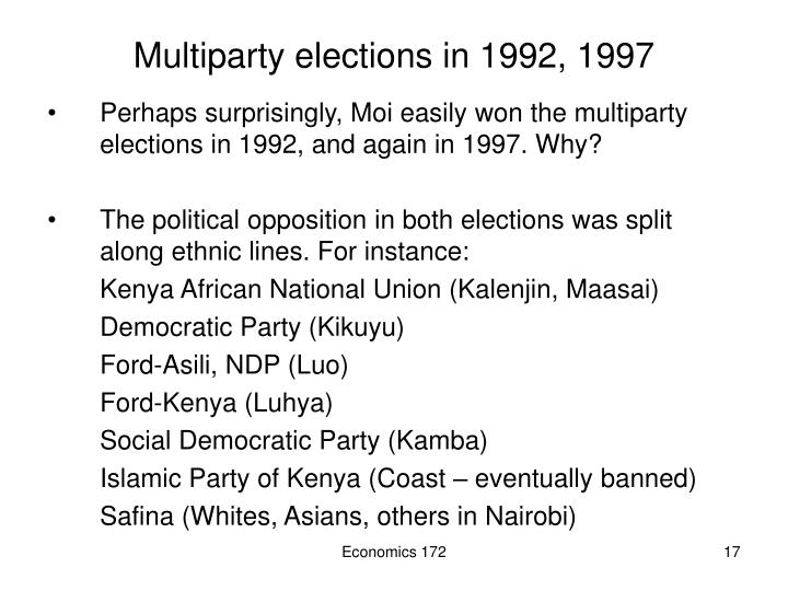 Multiparty elections in 1992, 1997