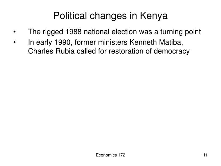 Political changes in Kenya