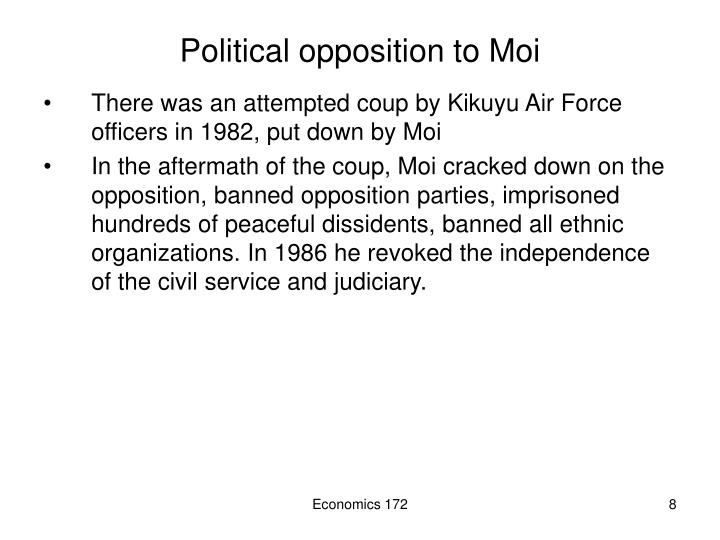 Political opposition to Moi