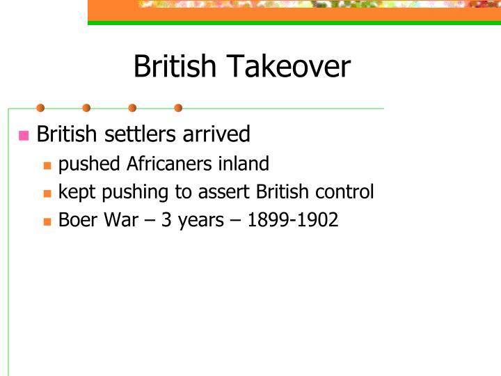 British Takeover
