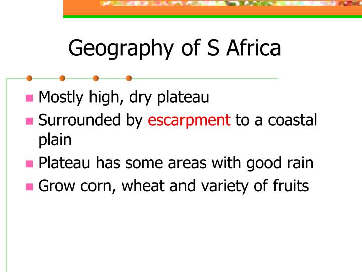 Geography of S Africa