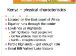 kenya physical characteristics