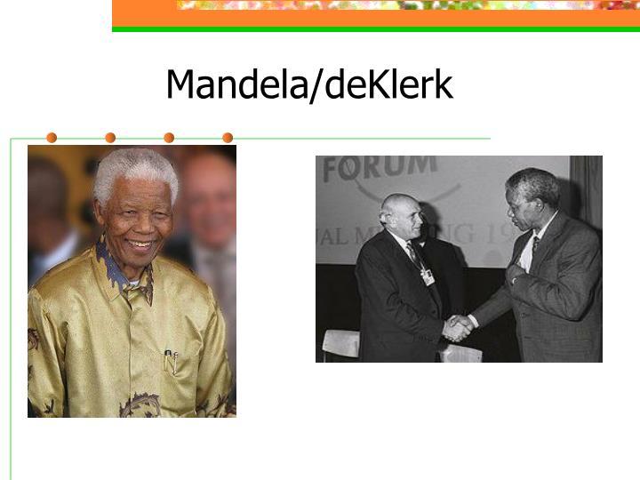Mandela/deKlerk
