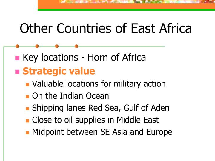 Other Countries of East Africa