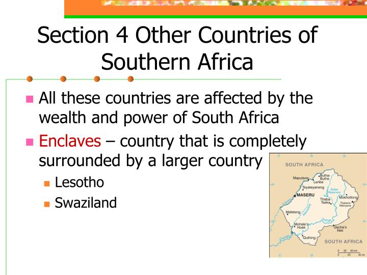 Section 4 Other Countries of Southern Africa