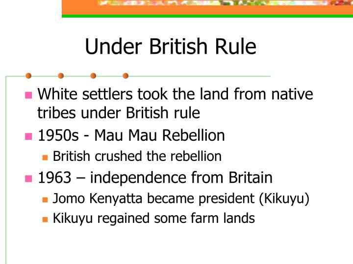 Under British Rule