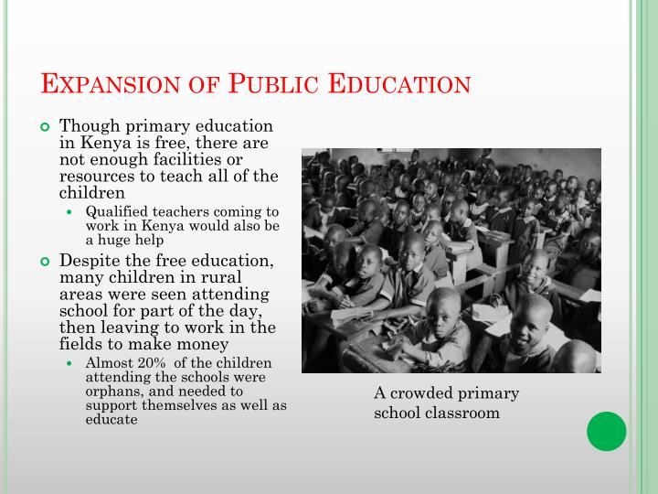 Expansion of Public Education