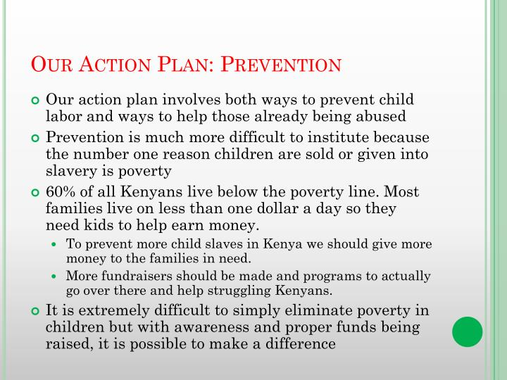 Our Action Plan: Prevention