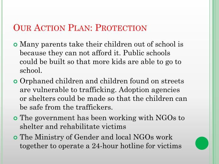 Our Action Plan: Protection