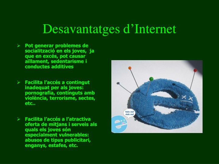 Desavantatges d'Internet