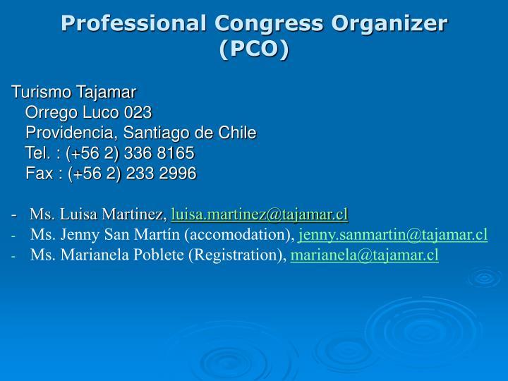 Professional Congress Organizer (PCO)