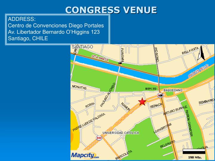 CONGRESS VENUE
