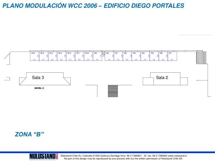 PLANO MODULACIÓN WCC 2006 – EDIFICIO DIEGO PORTALES