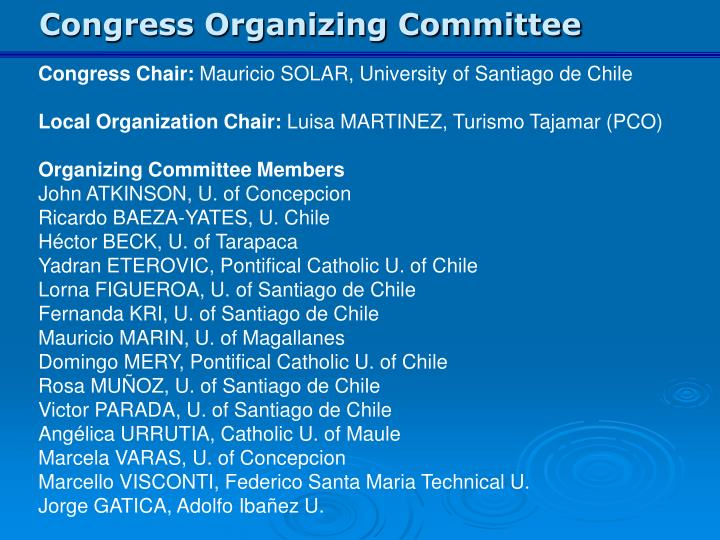 Congress Organizing Committee