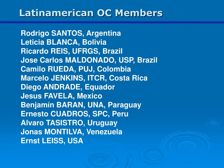 Latinamerican OC Members