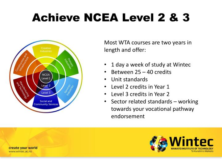 Achieve ncea level 2 3