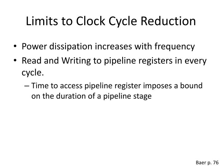 Limits to Clock Cycle Reduction