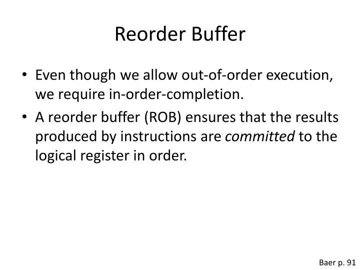 Reorder Buffer