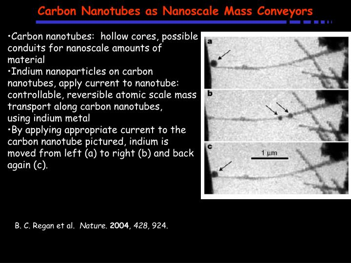 Carbon Nanotubes as Nanoscale Mass Conveyors