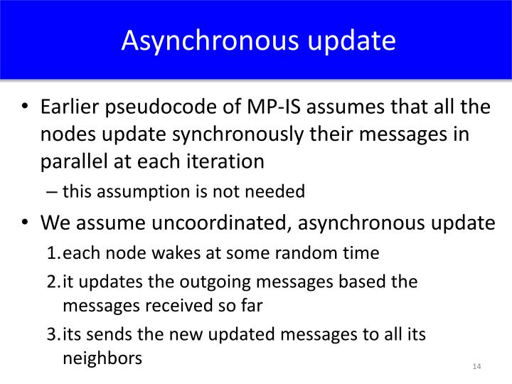 Asynchronous update