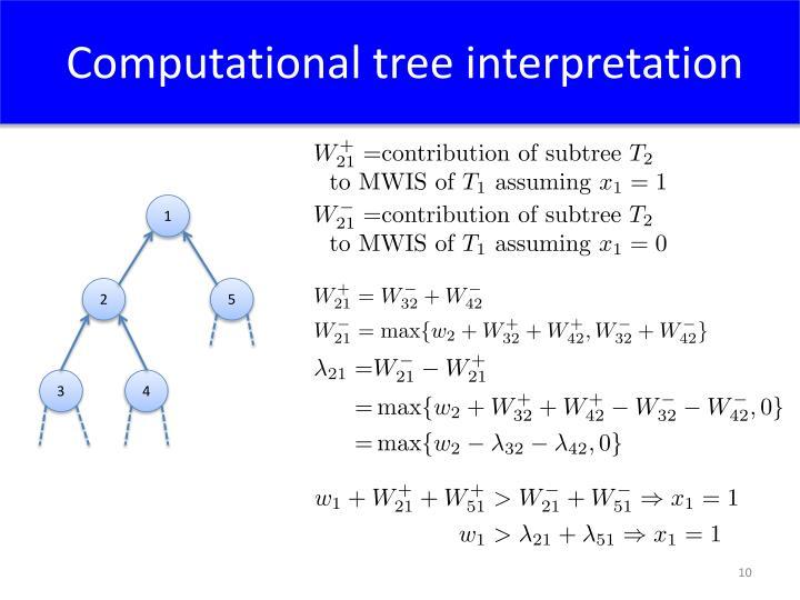 Computational tree interpretation