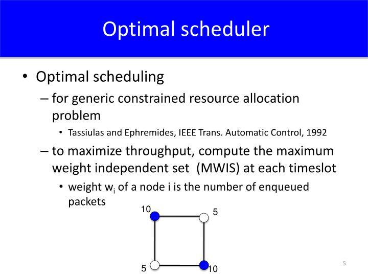 Optimal scheduler