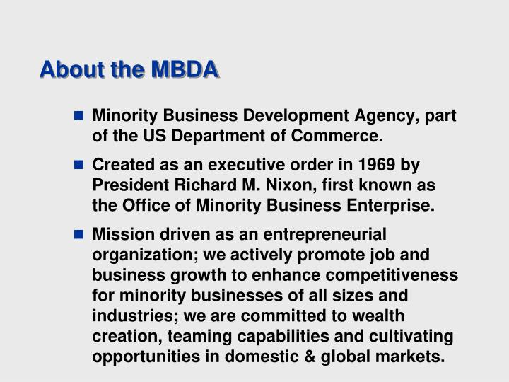 About the MBDA