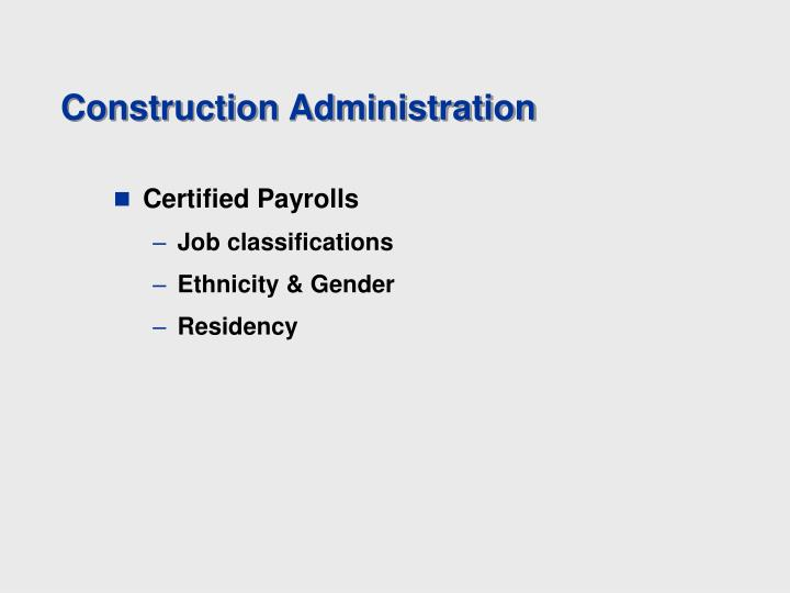 Construction Administration