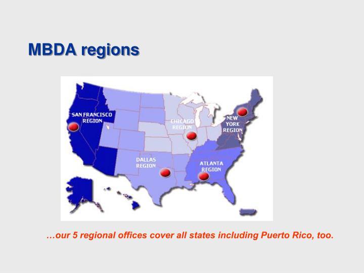 MBDA regions