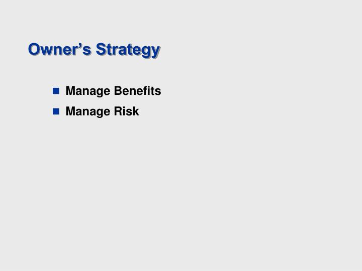 Owner's Strategy