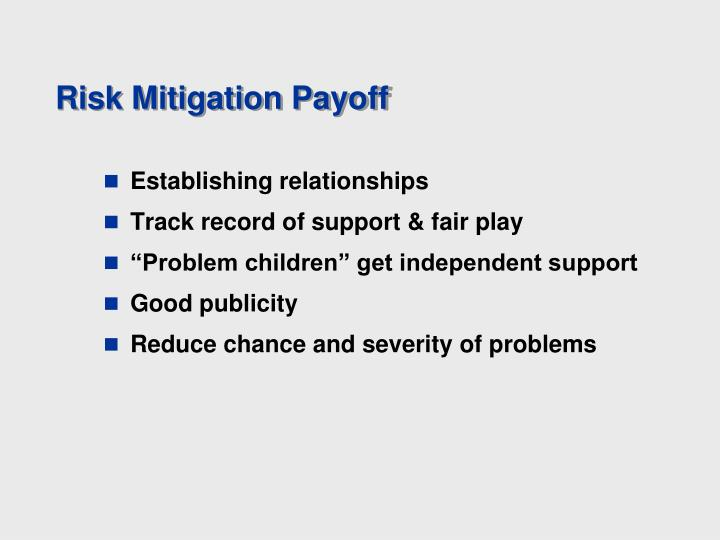 Risk Mitigation Payoff
