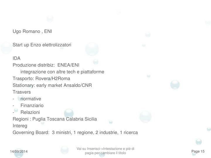 Ugo Romano , ENI
