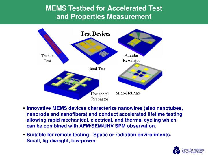 MEMS Testbed for Accelerated Test