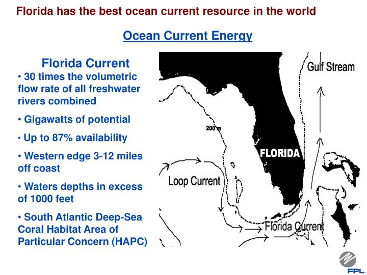 Florida has the best ocean current resource in the world