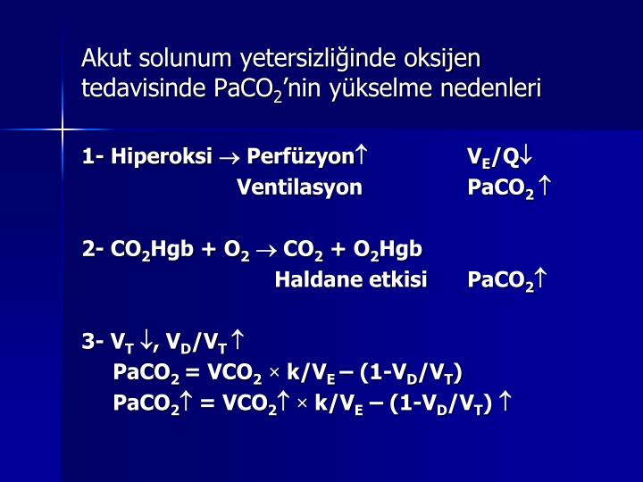 Akut solunum yetersizliğinde oksijen tedavisinde PaCO