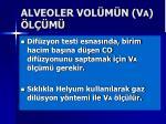alveoler vol m n v a l m