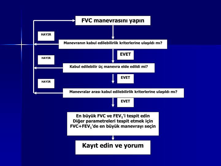FVC manevrasını yapın