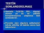 test n sonlandirilmasi