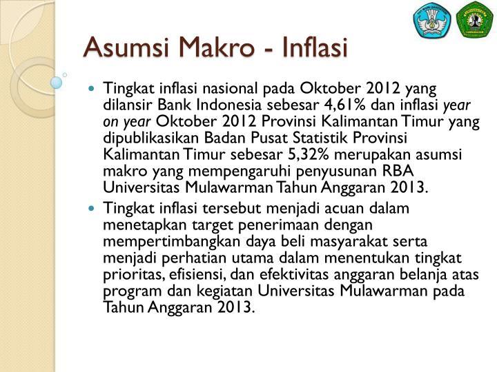 Asumsi Makro - Inflasi