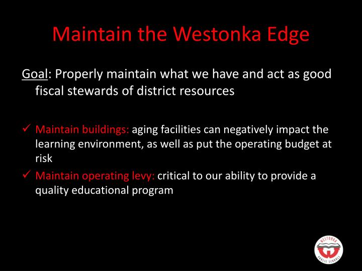 Maintain the Westonka Edge